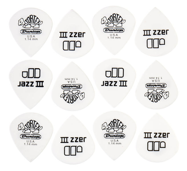 Dunlop Tortex Jazz III White 1,14