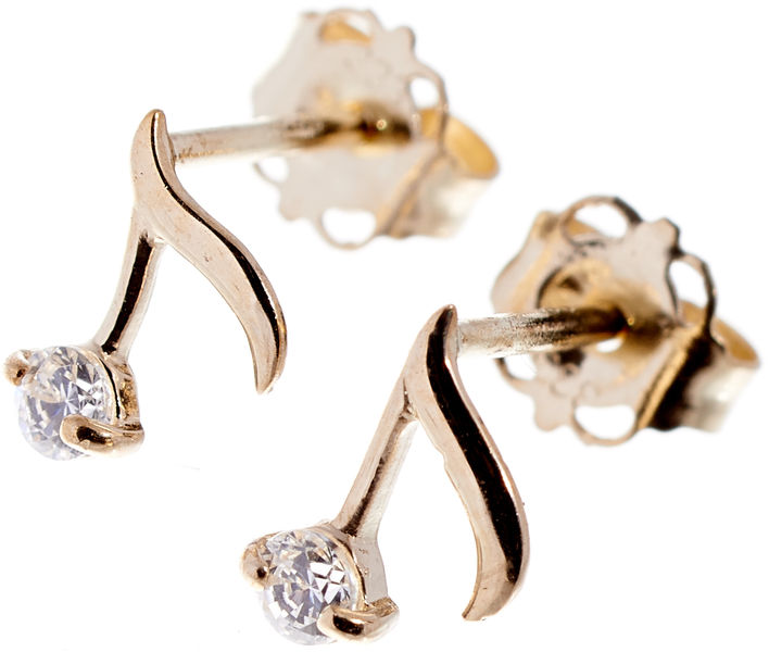 Rockys Stud Earrings Quaver Gold