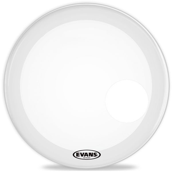 "Evans 20"" EQ3 Reso BD Coated White"
