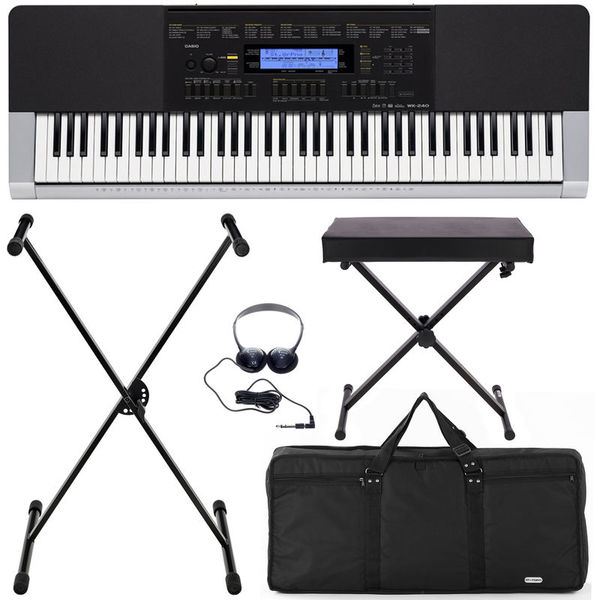 Casio WK-240 Deluxe Bundle