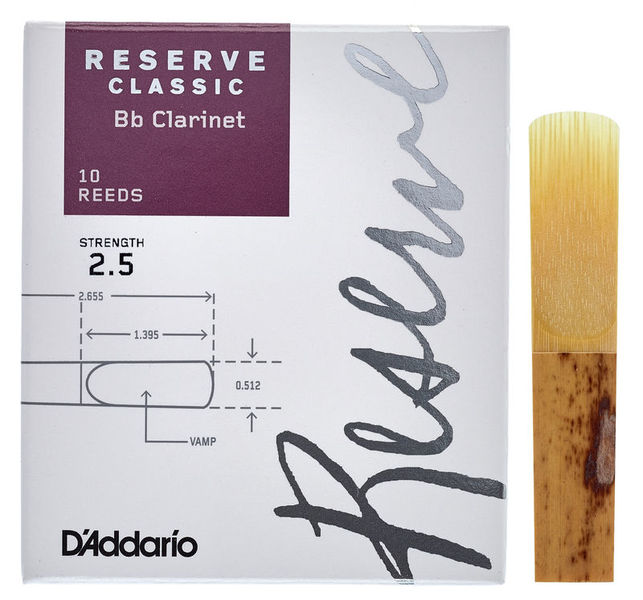 Reserve Clarinet Classic 2.5 DAddario Woodwinds