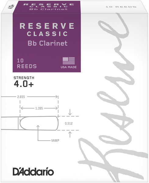 D'Addario Woodwinds Reserve Clarinet Classic 4,0+