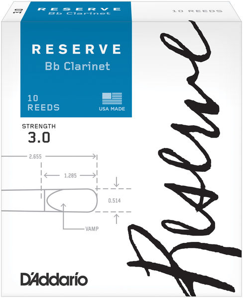 D'Addario Woodwinds Reserve Clarinet 3,0
