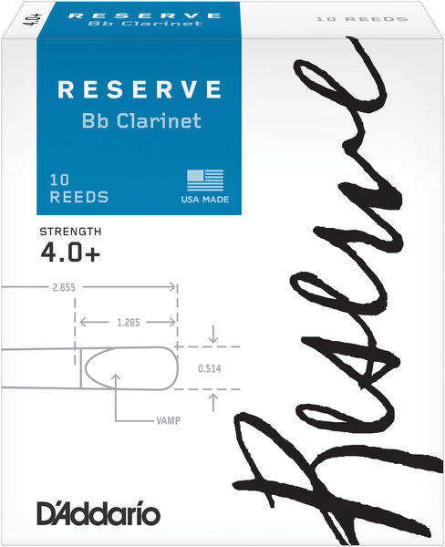 D'Addario Woodwinds Reserve Clarinet 4,0+