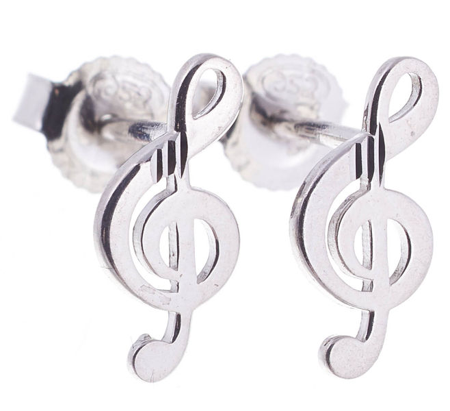 Rockys Stud Earrings Treble Clef S