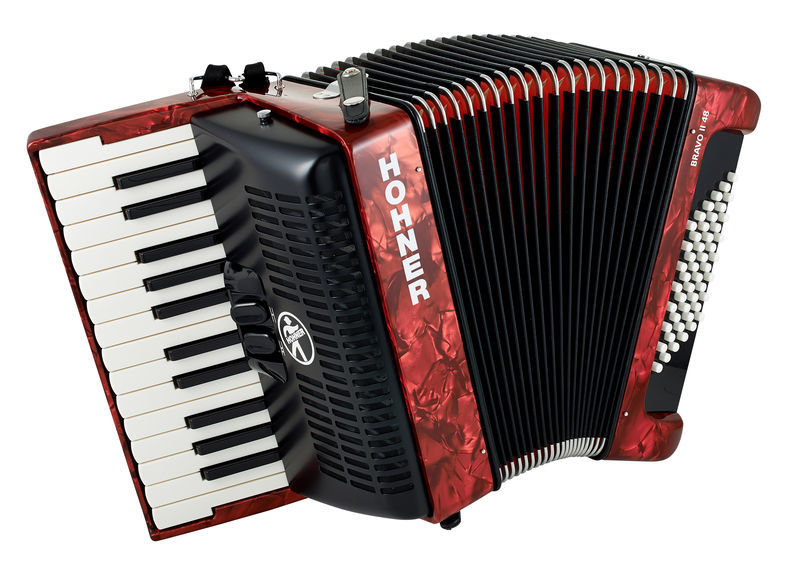 Hohner Bravo II 48 Red (Design 2)