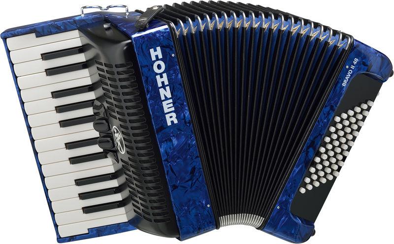 Hohner Bravo II 48 Blue (Design 2)