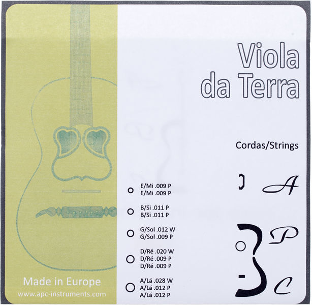 Antonio Pinto Carvalho Viola da Terra Strings
