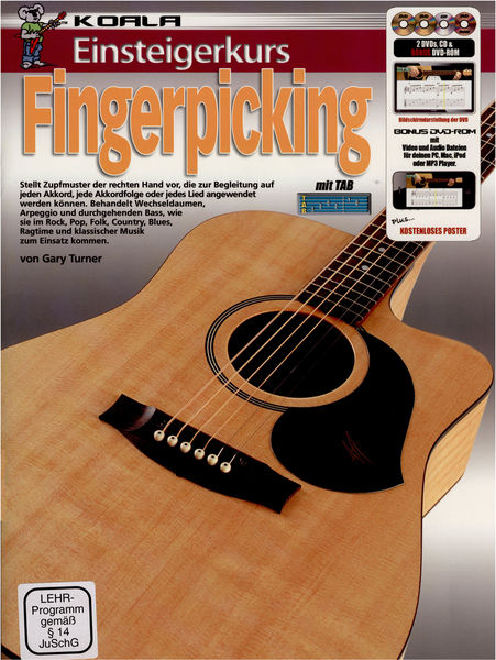 Koala Music Publications Einsteigerkurs Fingerpicking