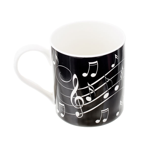 Music Sales Notes Mug White On Black