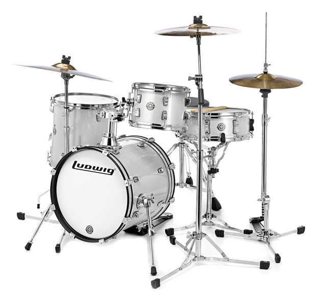 Ludwig Breakbeats Set White Bundle