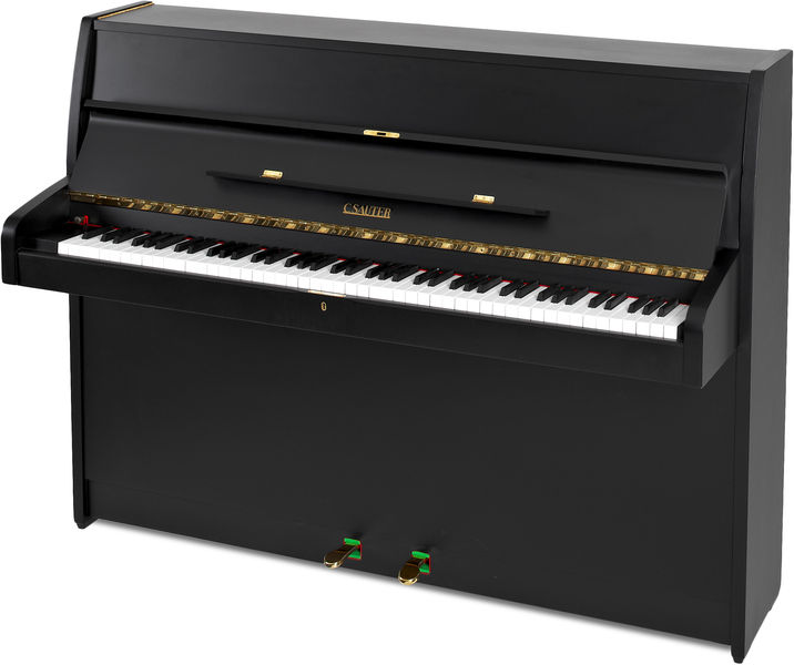 Sauter Piano, used, black satin