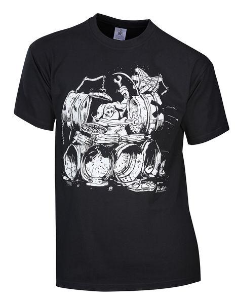 Rock You T-Shirt Drummers Meatpie S