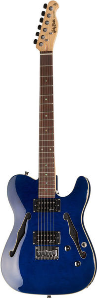 Harley Benton TE-90QM HH Trans Blue