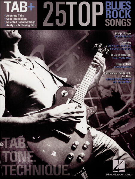 Hal Leonard Tab+ 25 Top Blues Rock Songs