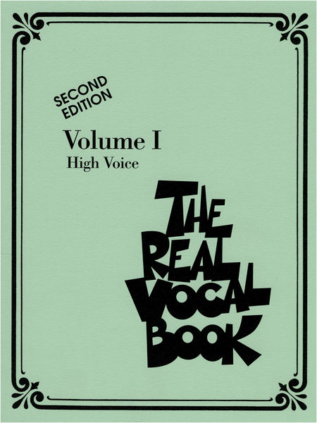 Hal Leonard Real Vocal Book (High) Vol.1