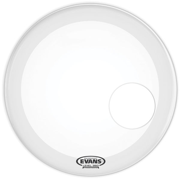 "Evans 22"" EQ3 Reso BD Coated White"