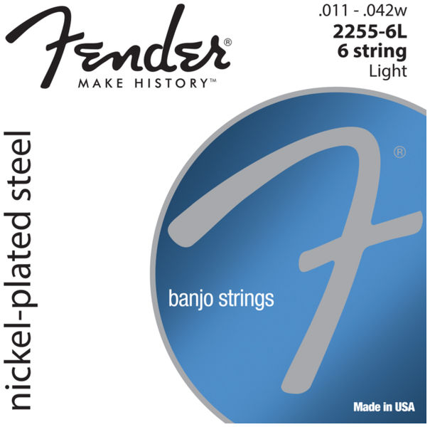 Fender 2255-6L 6 string Banjo Set