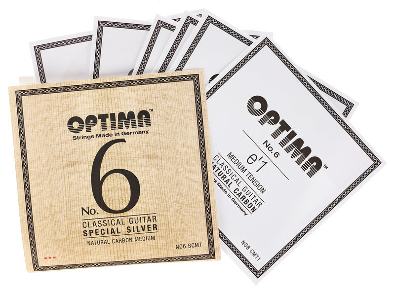 Optima No.6 Silver Strings Carbon Med