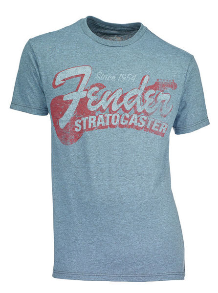 Fender T-Shirt Stratocaster Navy L