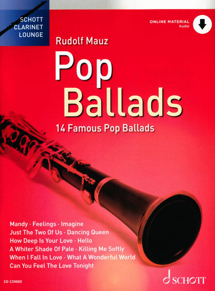 Schott Pop Ballads Clarinet