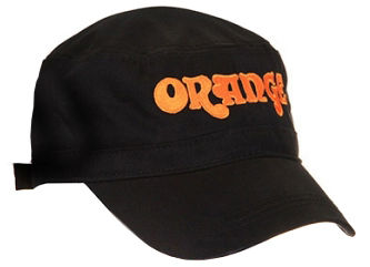 Orange Cadet Hat Black Orange Logo