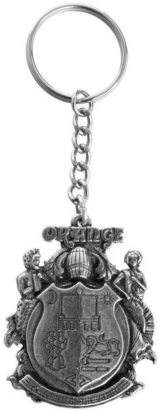 Orange Crest Key Ring