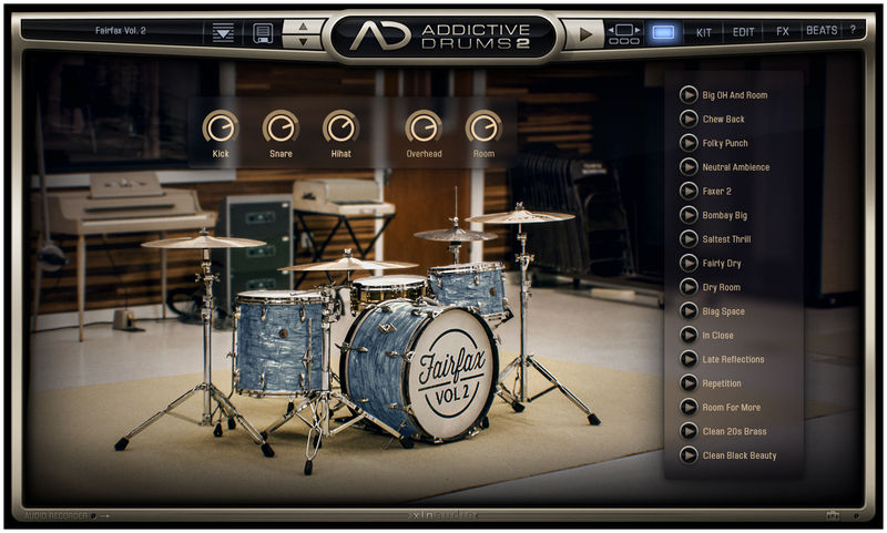 xln audio addictive drums 2 thomann sverige. Black Bedroom Furniture Sets. Home Design Ideas