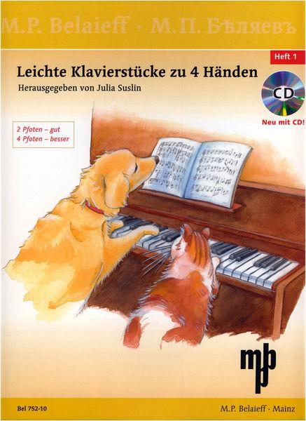 Belaieff Musikverlag Leichte Klavierstücke 4 Hände