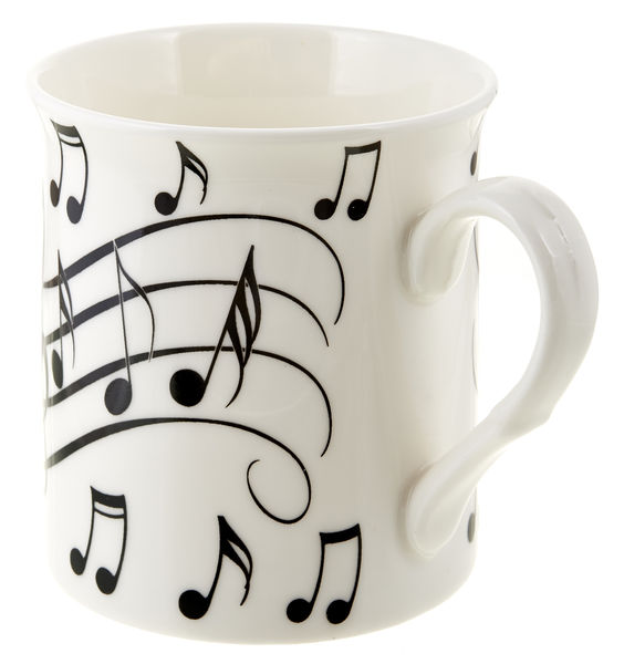 Music Sales Notes Mug Black on White