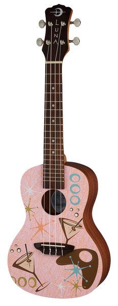 Luna Guitars Ukulele Pink Martini