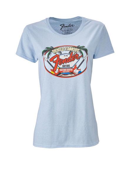 Fender T-Shirt Ladies World Famous L