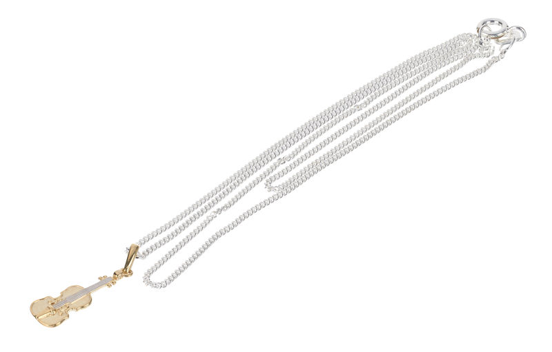 Rockys Necklace Violin Gold/Silver