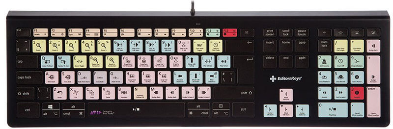 Editors Keys Backlit Keyboard Pro Tools DE