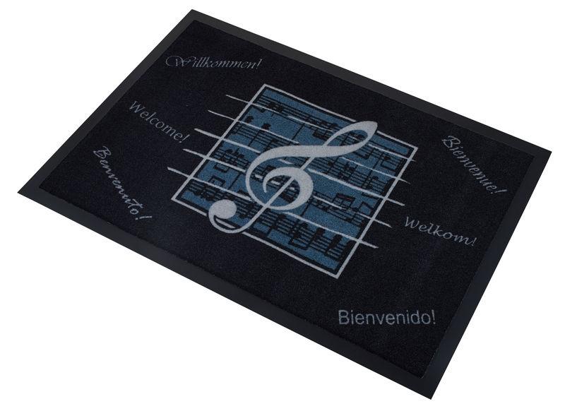 Musikboutique Hahn Doormat Black Violin Clef