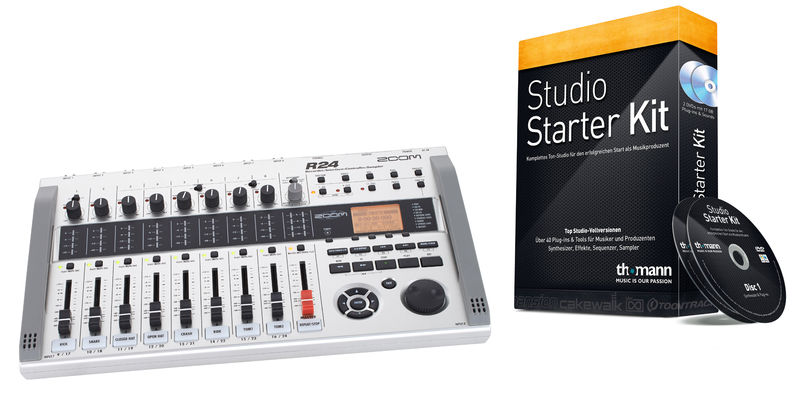Zoom R24 Studio Starter Kit Bundle