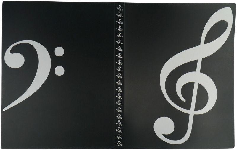 A-Gift-Republic Portfolio Violin Clef Bl/Wh