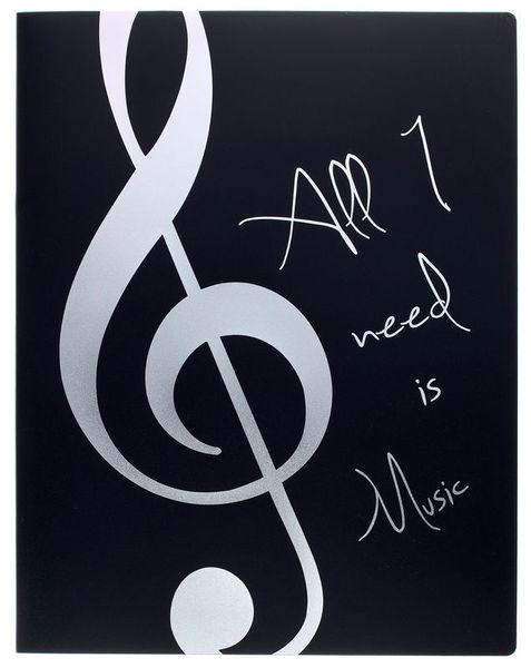 A-Gift-Republic Portfolio Violin Clef Bl/Sil.