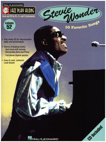 Jazz Play Along Stevie Wonder Hal Leonard