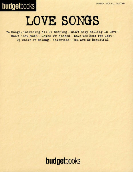 Hal Leonard Budgetbooks Love Songs