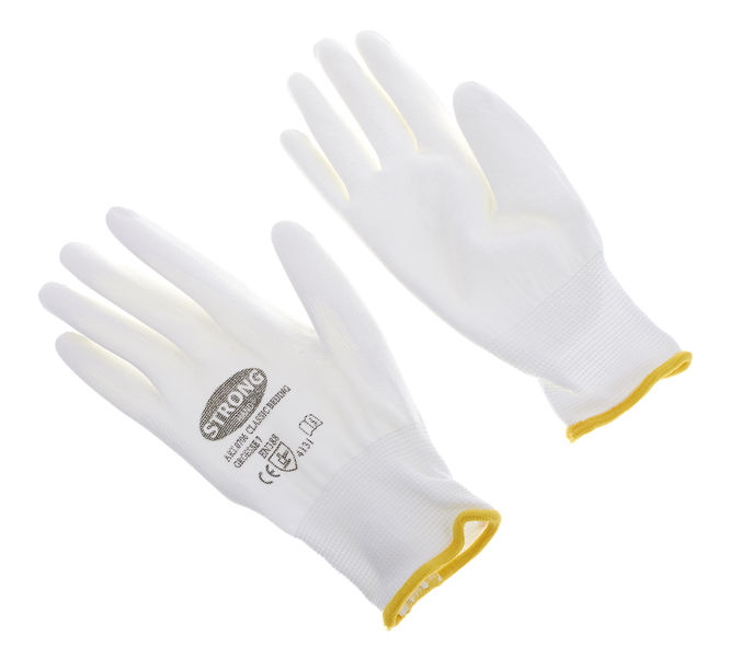 Thomann Nylon gloves white size 7