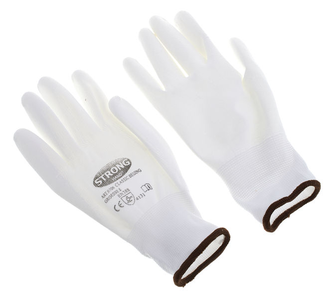 Thomann Nylon gloves white size 8