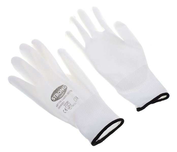 Thomann Nylon gloves white size 9