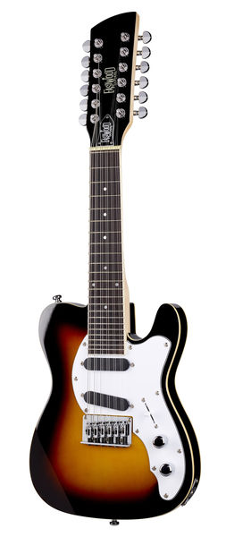 Eastwood Guitars Mandocaster Sunburst 12string