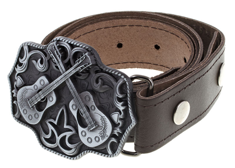 Rockys Belt Western Guitars Brown 105