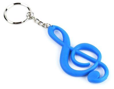 A-Gift-Republic Keyring Treble Clef Blue Gummy