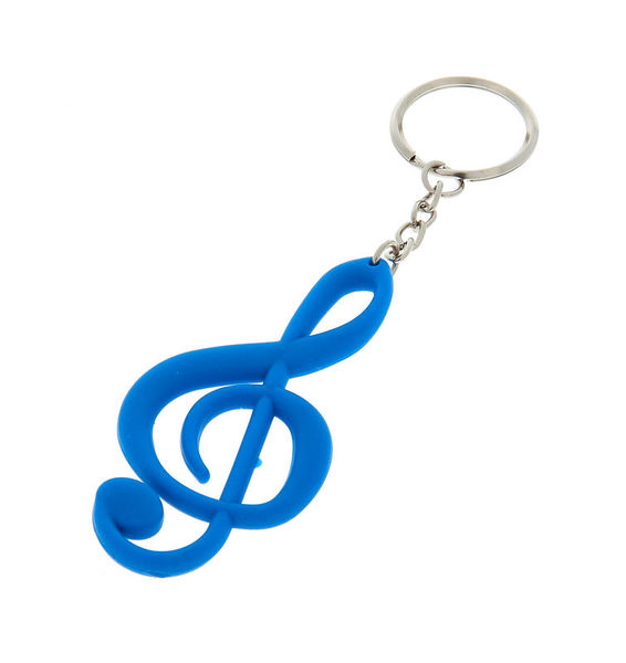 A-Gift-Republic Keyring Treble Clef Blue Gummy