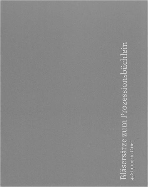 Echter Verlag Bläsersätze Prozession 4 CT