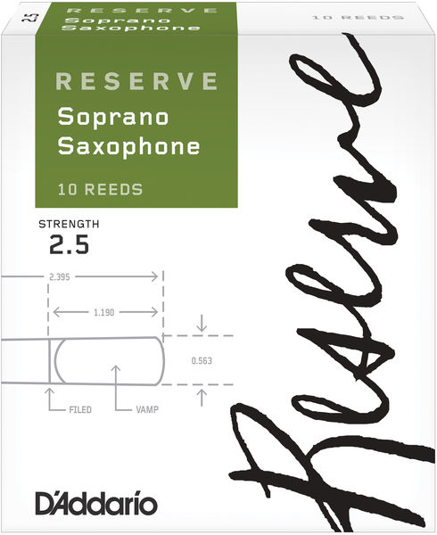 D'Addario Woodwinds Reserve 2,5 Soprano Saxophone