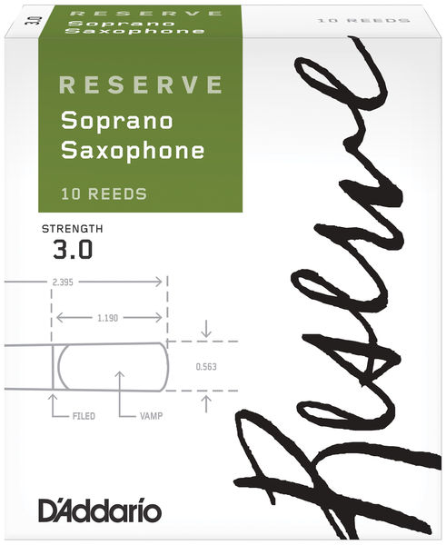 D'Addario Woodwinds Reserve 3,0 Soprano Saxophone